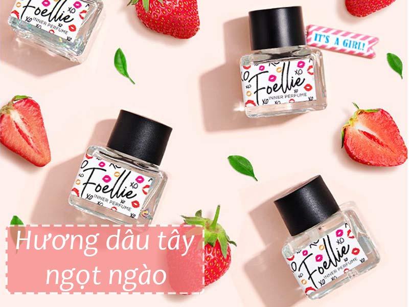 Hương dâu ngọt ngào từ sản phẩm Foellie Eau De Miel