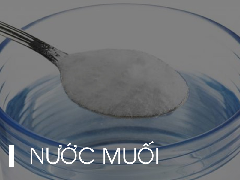 Nước muối giúp sát trùng một cách hiệu quả