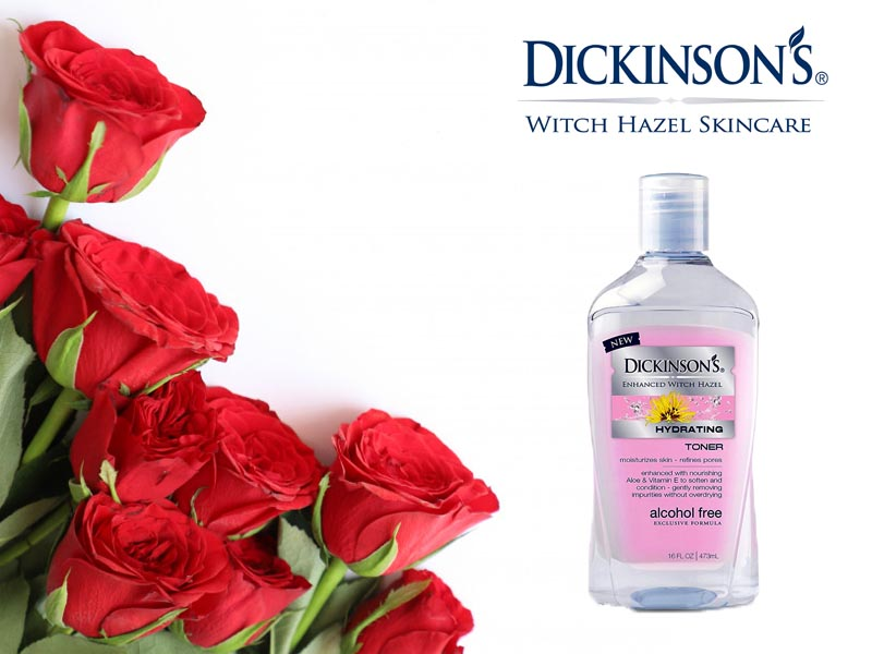 Nước hoa hồng Dickinson's Enhanced Witch Hazel Hydrating – chai màu hồng