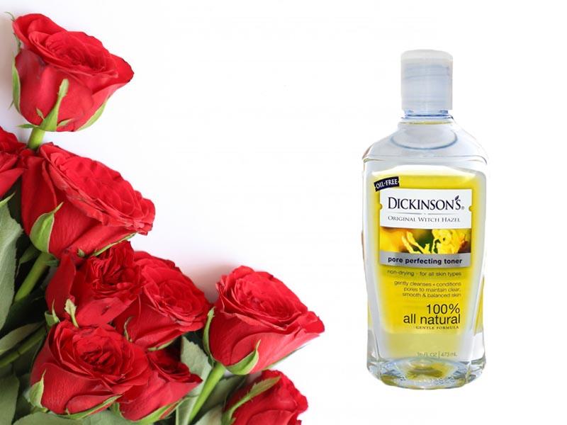 Nước hoa hồng Dickinson's Original Witch Hazel Pore Perfecting Toner - Chai màu vàng