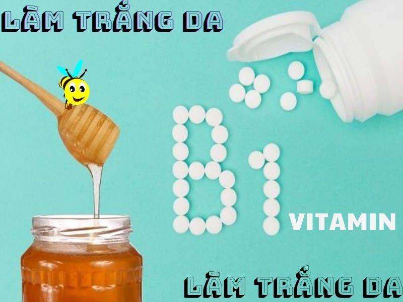 Làm trắng da với vitamin B1 và mật ong